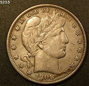 1908-o Barber Half Dollar In Xf/au Free S/h After 1st Item
