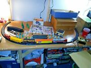 Lot44 Santa Feands O S Train Set W Buildingstrees Train Signs On Card Stock