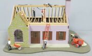 Lionel House Under Construction Accessory 6-37941 O Gauge Train Lighted Building