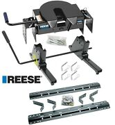 Reese 16k 5th Fifth Wheel Hitch And Rail Kit Slider For 75-16 Ford F250 F350 F450