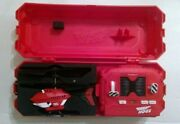 Vintage Air Hogs Helicopter Set With Case 1970s Red And Black