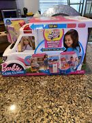 New Barbie Care Clinic Playset Ambulance Transforms Into Hospital Lights And Sound