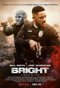 215545 Bright 2017 Will Smith Action Fight Crime Fantas Glossy Poster Fr