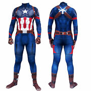 Captain America Cosplay Costume Steve Rogers Avengers 3d Printed Adults And Kids