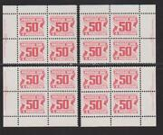 1977-78 Canada Sc J40 Fourth Issue Postage Due Plate Blocks Of 4 M-nh B 20