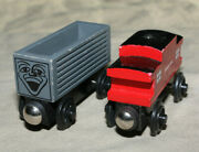 Original Thomas The Tank Engine Wooden Train - Troublesome Truck And Sodor Caboose