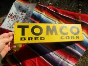 Vintage Nos Tomco Bred Seed Corn Double Sided Spinner Sign 2