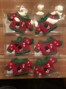 2014 Dunkin Donuts Christmas Sweater Ornament Gift Card Holder Lot Of 6