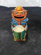 Keim Co Cowboy W/ Tray Penny Bank 1920andrsquos Litho Mechanical Tin Germany K673