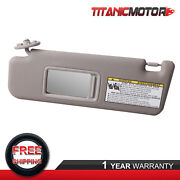 Gray Left Sun Visor With Mirror For 04-08 Toyota 4runner Replaces 74320-3d050-b0