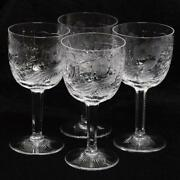 Set Of Four 4 Justin Tharaud Royal Peacock Water Goblets