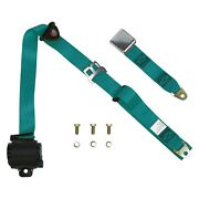3-point Airplane Lift Buckle Interior Retractable Safety Seat Belt Aqua