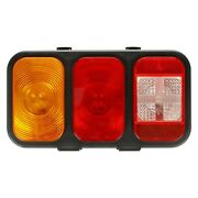 Driver Side 45 Combination Tail Light Series Red/clear/yellow Rectangular Stud