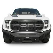 For Ford F-150 17-20 Br5.5 Replacement Full Width Black Front Winch Hd Bumper
