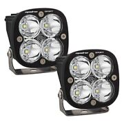 For Jeep Wrangler 18 Lights Kit A-pillar Mounted Squadron Pro 3 2x40w Square