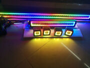 50inch Led Light Bar Combo + 22 + 4x 3 Pods With Chasing Rgb Halo Fit For Jeep