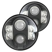 For Chevy Monte Carlo 70-75 Pro Comp 7 Round Black Projector Led Headlights