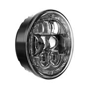 For Ford Galaxie 500 62-66 5 3/4 Round Black Halo Projector Led Headlight