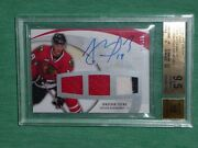 2007-08 Ud Sweet Shot Jonathan Toews 1/100 Auto 3clr Jersey Bgs 9.5 First 1/1
