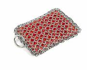 Kitchen-pro Cast Iron And Pyrex And Stainless Steel Skillet Chainmail Scrubber And
