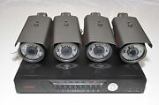 New Surveillance Security Network Recorder Nvr 4x 1080p 300-ft Ip Zoom Camera
