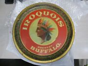 Rare Vintage Buffalo Iroquois Beer Pre Prohibition Indian Tray