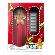 2020 Pez Gift Set W/ Gingerbread Man Dispenser And 6x 5 G .999 Silver Wafers New