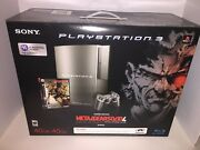 Sony Playstation 3 40gb Ps3 Console Metal Gear Solid 4 Bundle New/sealed Ntsc
