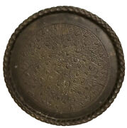 Antique Middle Eastern Mameluke Bronze 32andrdquo Hanging Tray Persian Turkish