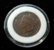Nice 1900 Liberty Head Small Cent Penny In Acrylic Capsule