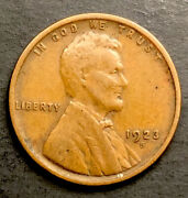 Lincoln Wheat Cent Penny 1923s Better Date /tnt127