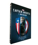 Captain America 3-movie Collection Dvd Marvel / Brand New / Free Shipping