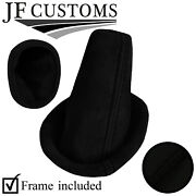Black Stitch Luxe-suede Shift Boot+plastic Frame For Lotus Elise Exige S2 04-14
