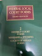 Federal Local Court Forms 2019 West
