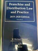 Franchise And Distribution Law And Practice 2019-20 West
