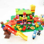 Lot Of 180+ Lego Duplo Blocks Pieces Motorcycle Food Pizza Base Plate 5 Lbs