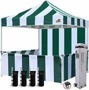 Eurmax 10'x10' Ez Pop-up Booth Canopy Tent Commercial Instant Canopies