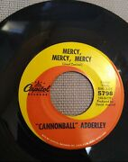 Cannonball Adderley Games / Mercy, Mercy, Mercy 7 - 45 Rpm Capital Records