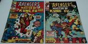 Avengers 28 And 29 Marvel Uk 1974 Reprints 1st App Master Of Kung Fu Vg Rare
