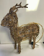 Led Winter Light Up Reindeer Decoration Wood And Wire Frame Indoor/ Outdoor