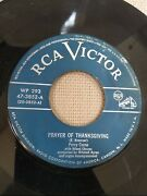 Perry Como Rock Of Ages / Prayer Of Thanksgiving 7 Vinyl 45 Rca Victor