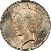 1925 Gem Bu Pcgs Ms65 Peace Silver Dollar - Toned With Outstanding Pastel Color