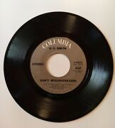 O.c. Smith Don't Misunderstand / If You Touch Me 7 Vinyl 45 Columbia Records