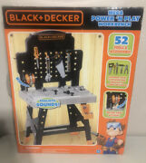 Black And Decker Mega Power 'n Play Workbench Childs Construction Tool Playset New