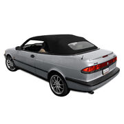 Saab 900s/se Convertible Top 95-96 In Black Stayfast Cloth Glass Window