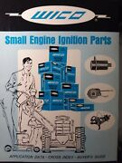 Wico Small Engine Ignition Parts Application Data Cross Index Buyer Guide Manual