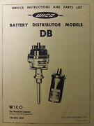Wico Battery Distributor Model Db Engine Service And Parts Manual