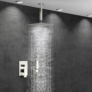 Shower Faucet System Combo Set 8 Inch Rainfall Handshower Shower Ceiling Mounted
