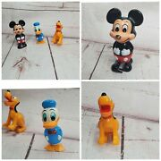 Vintage Tomy Walt Disney Mickey Mouse Pluto And Donald Duck Wind Up Walker Toy Lot