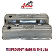 Ford 351 Cleveland Valve Covers - Die-cast Logo Polished - Ansen Usa